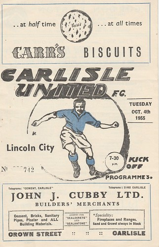 Carlisle United V Lincoln City 1955-56 | by cumbriangroundhopper