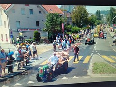 Wagenaufbau und Umzug am Jodelfest in Horw