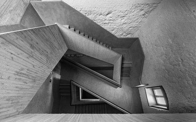 Staircase - completely made of concrete II
