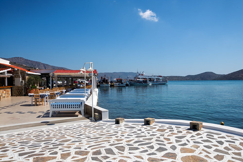 The beautiful seaside of Elounda