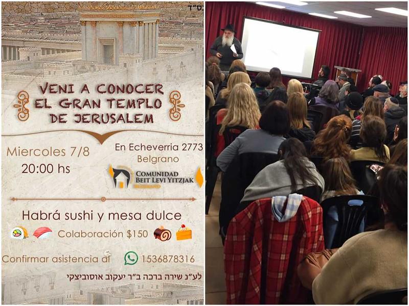 Charla multimedia sobre el Gran Templo de Jerusalem en Beit Levi Itzjak Belgrano