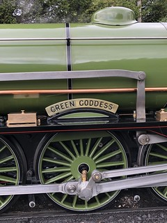 No 1 Green Goddess nameplate at New Romney 7 Aug 2019