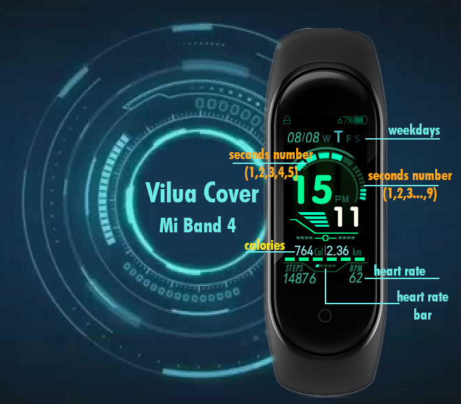 Vilua Cover» by EiphThe - Mi Band 4 | Amazfit WatchFaces catalog