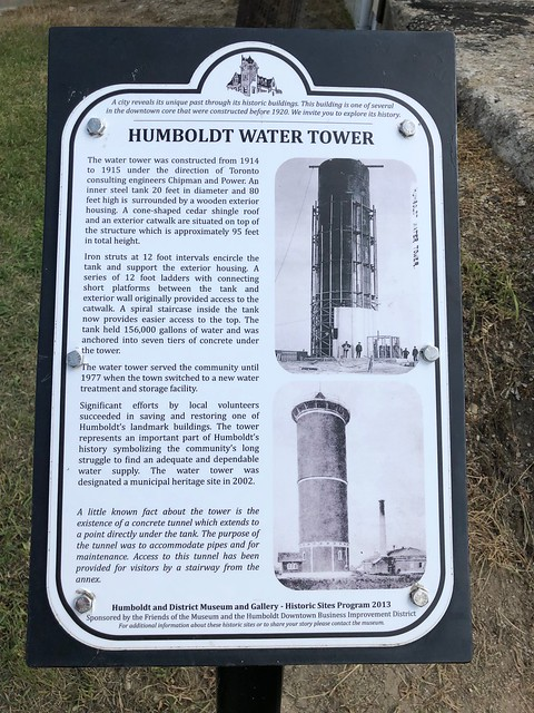 Humboldt - Water tower plaque