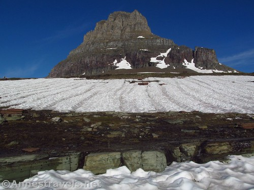 Mt. Oberlin from along the Hidden Lake Trail in Glacier National Park, Montana