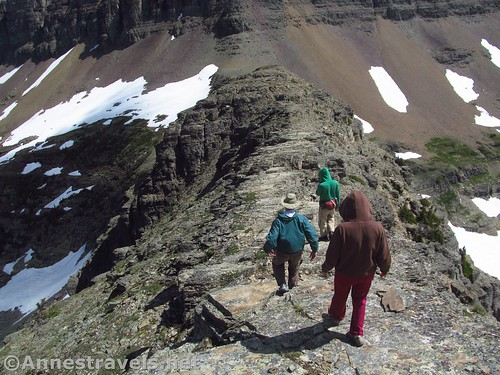 Hiking down the Dragontail in Glacier National Park, Montana