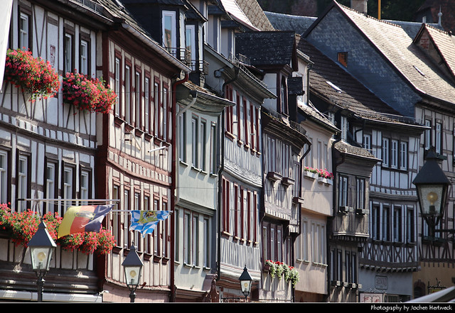View along Hauptstrasse, Miltenberg, Germany