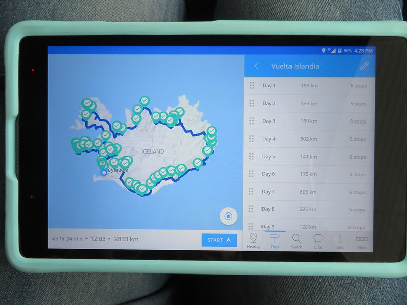 Tablet de Camp Easy Iceland