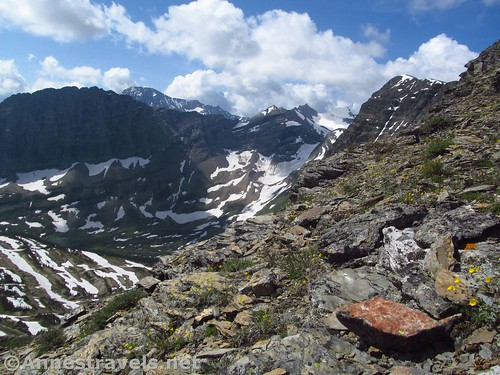 You can just see the Sperry Glacier through the break in the ridgeline on the right, Glacier National Park, Montana