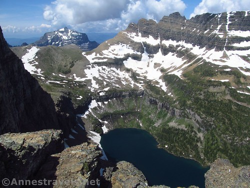 Hidden Lake from high on the Dragontail in Glacier National Park, Montana