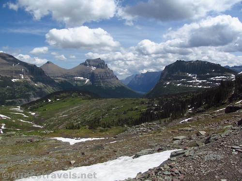Views toward St. Mary Lake along the Reynolds Mountain Trail in Glacier National Park, Montana