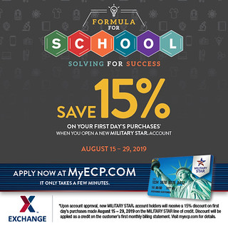 Save 15% More on Back-to-School Shopping at the Exchange with New MILITARY STAR Accounts Aug. 15-29 | by Army & Air Force Exchange Service PAO