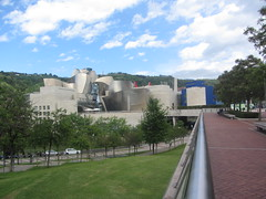 A different angle of the  Guggenheim Museum, Bilbao,  Vizkaya,  Basque  Country,  Spain