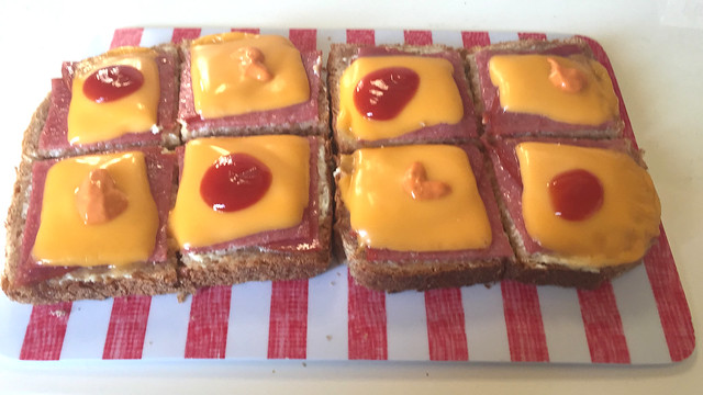 Microwave Salami Toast