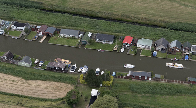 The river Thurne - Potter Heigham in Norfolk aerial image