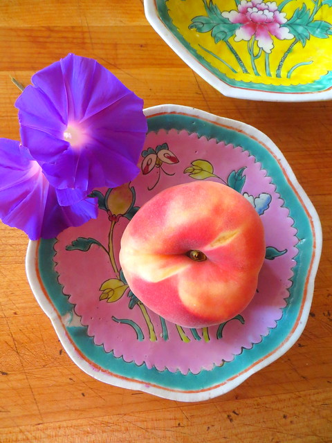 chinese dishes, summer peach