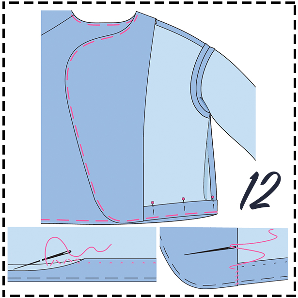 Sewing Lesson Jacket STEP 12