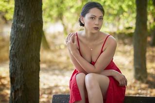 Alice in red dress