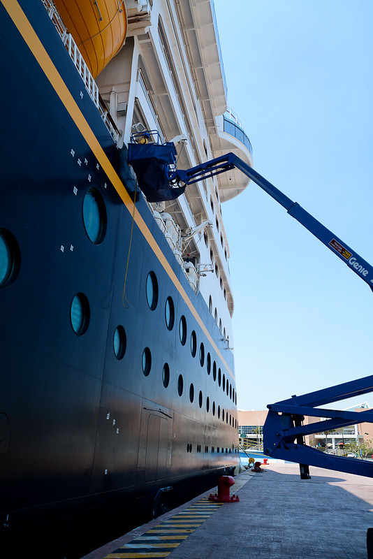 Disney Wonder Ship Maintenance in Puerto Vallarta