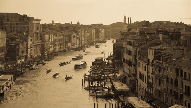 Venezia grand canal (vintage photo)