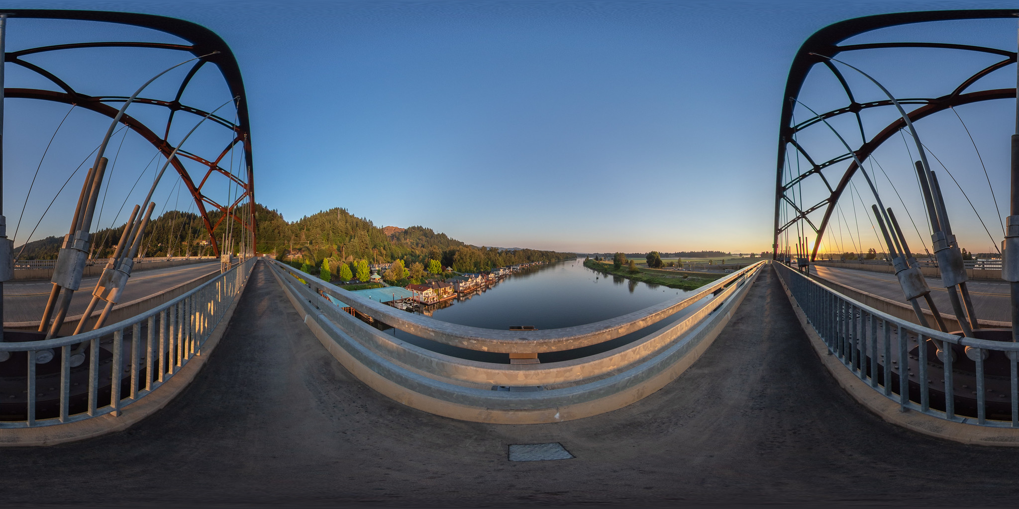 Sauvie Island Bridge Sunrise • 360º
