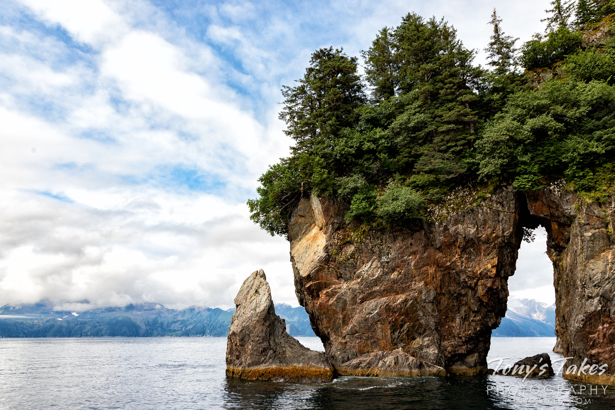 Dramatic rock formations of Alaska's Aialik Cape