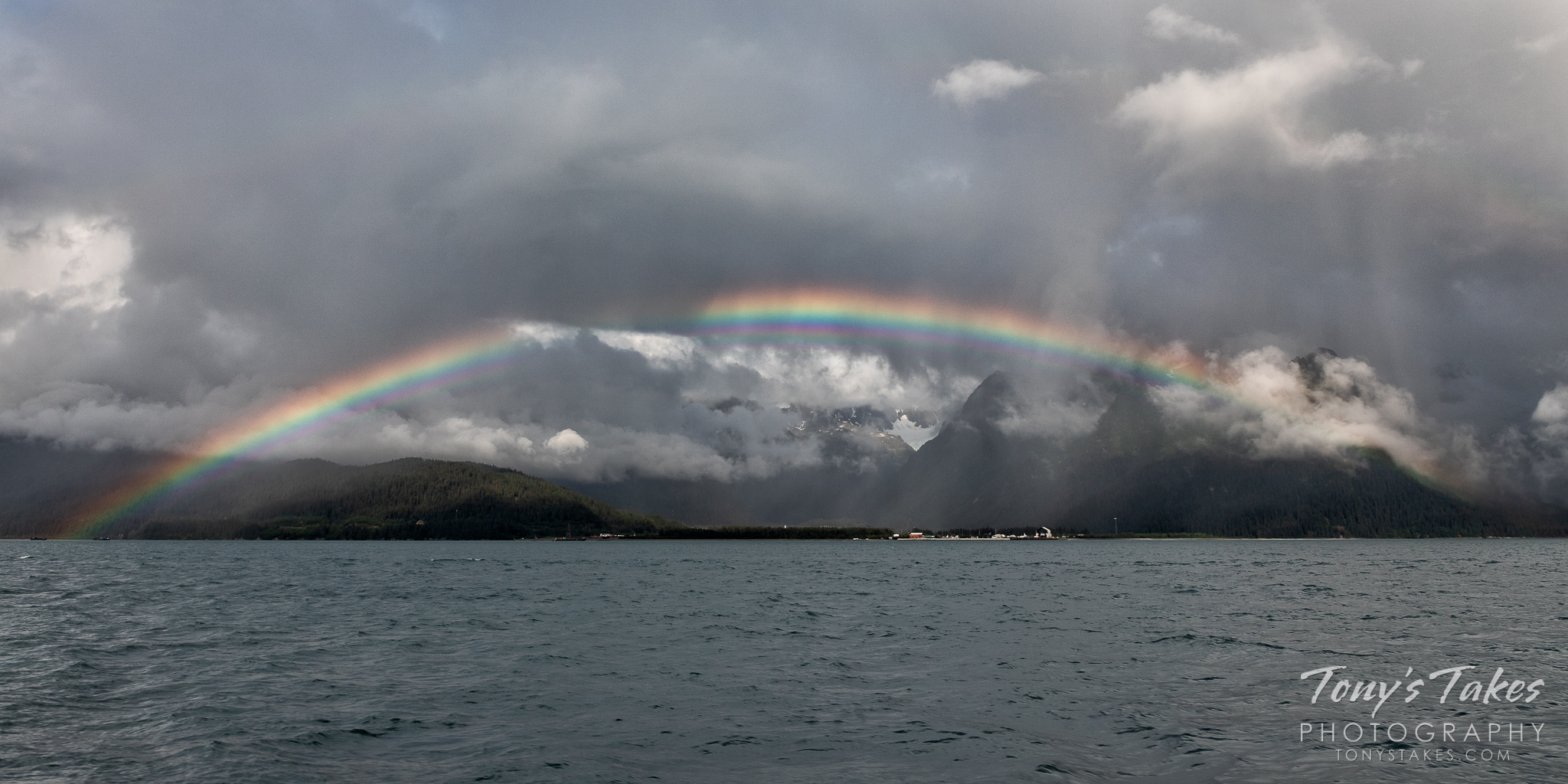 Resurrection Bay rainbow