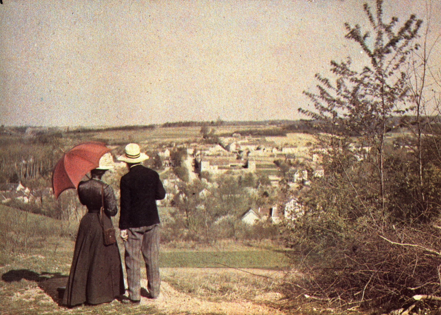 1906.  Пара смотрит на пейзаж