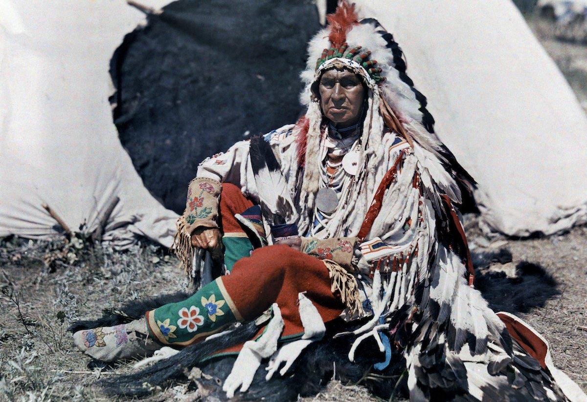 1927. Монтана – глава резервации индийцев Кроу. Эдвин Л. Вишерд
