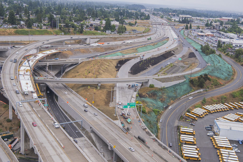 New I-5 and SR 16 interchange in Tacoma | This photo taken i