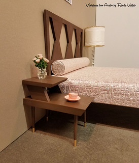 Mid-Century Modern full size bed in 1:6th scale