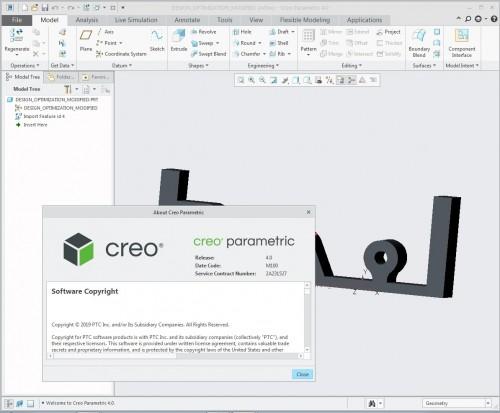 Working with PTC Creo 4.0 M100 full cracked