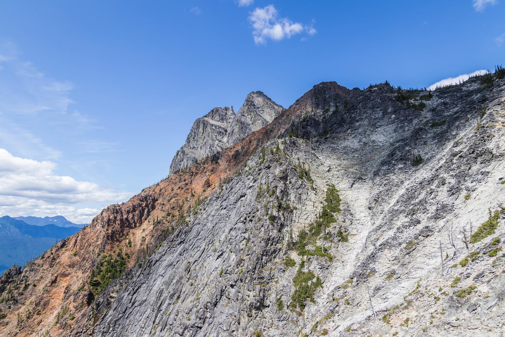 Hozomeen Mountain North Peak making a cameo