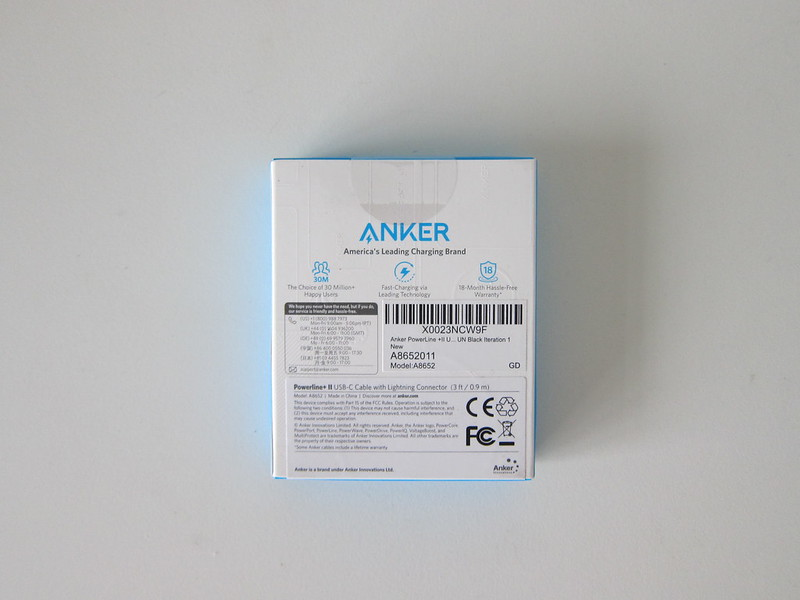 Anker Powerline+ II USB-C to Lightning Cable - Box Back