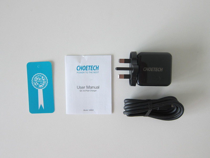 Choetech USB Wall Charger - Box Contents