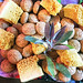 Food & art: 'themed' sweets designed by the caterer for my art show 'Precious Stones'