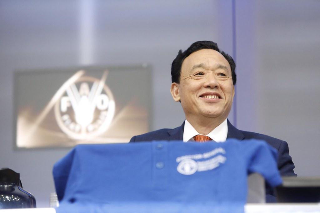 糧農組織(FAO)新任總幹事屈冬玉上週就職