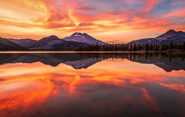 Summer Sunset Colors at Sparks Lake