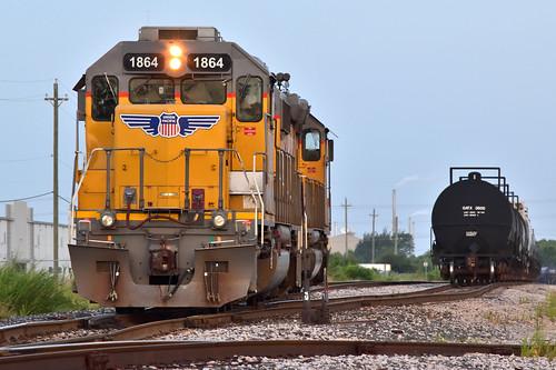 sd40n sd40 up unionpacific lhu24 bayport switcher tankcar tracks industriallead portofhouston train tx texas