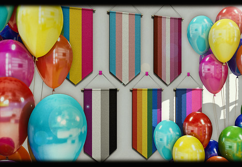 ChiMia - Hanging Pride Flags AND Pride Balloons