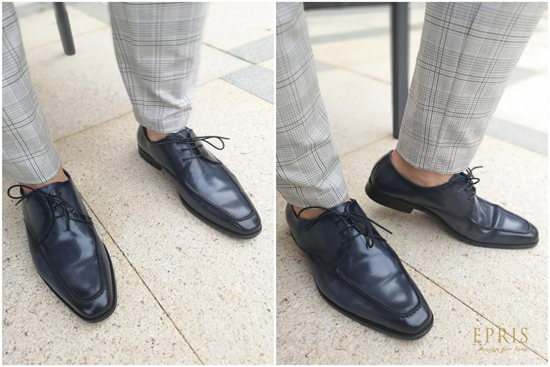 藍色皮鞋 紳士鞋 男鞋