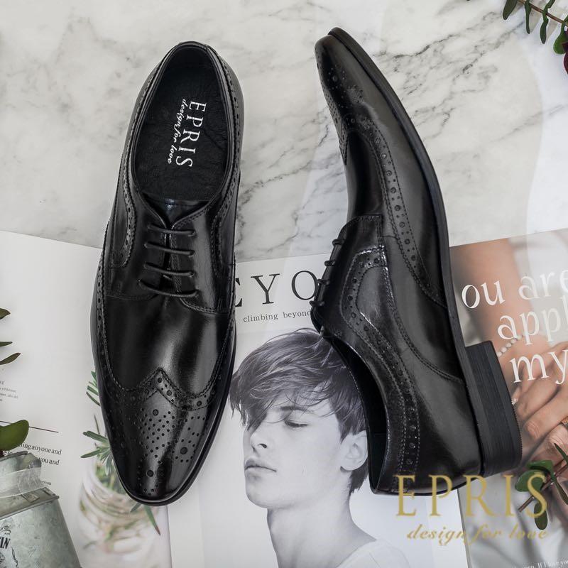 黑色皮鞋 雕花皮鞋