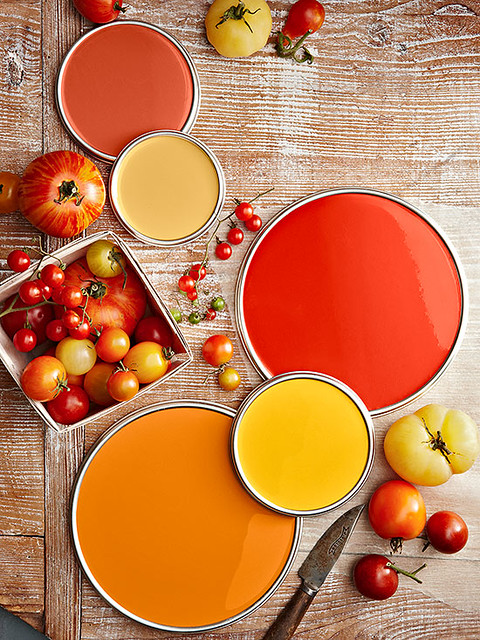 Heirloom Tomato Paint Colors