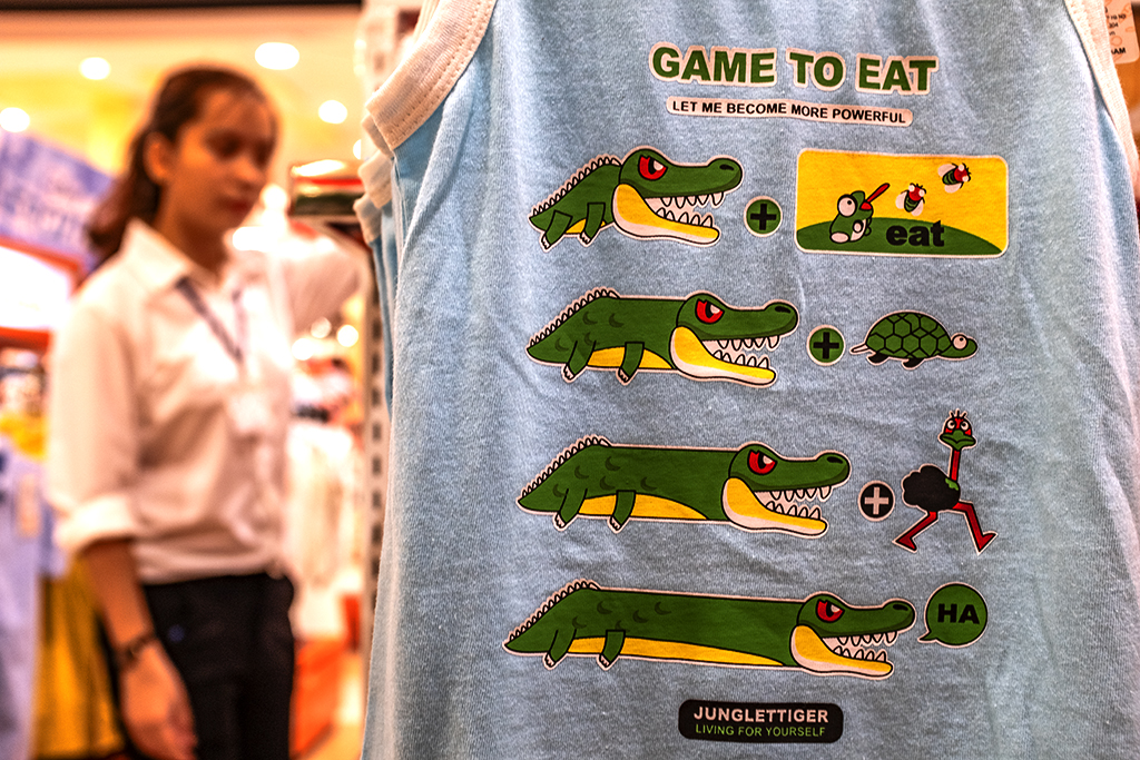 GAME TO EAT shirt at Aeon Mall--Saigon