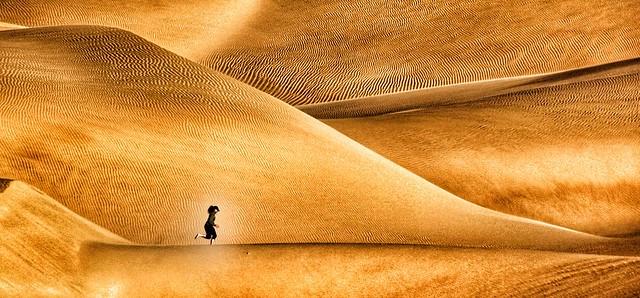 Running on sand skin.