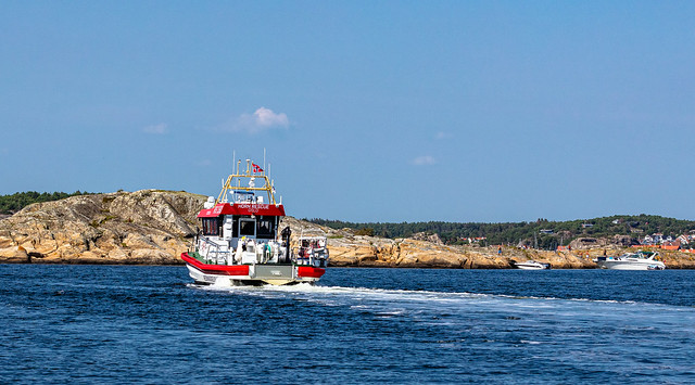 Recue vessel in the Hvaler archipelago