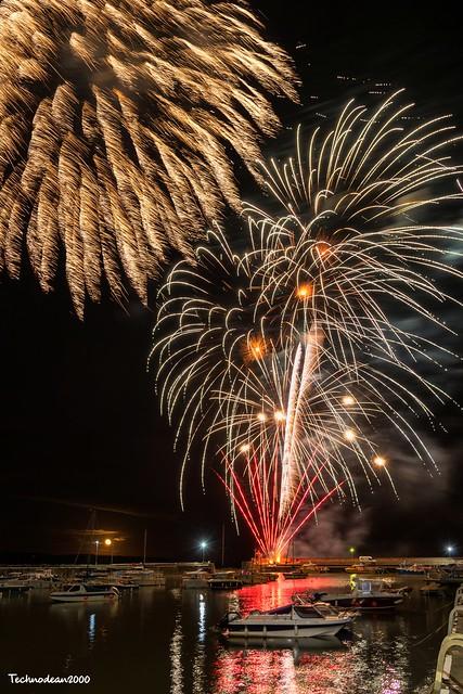 Saundersfoot's Halloween's Fireworks at the Marina