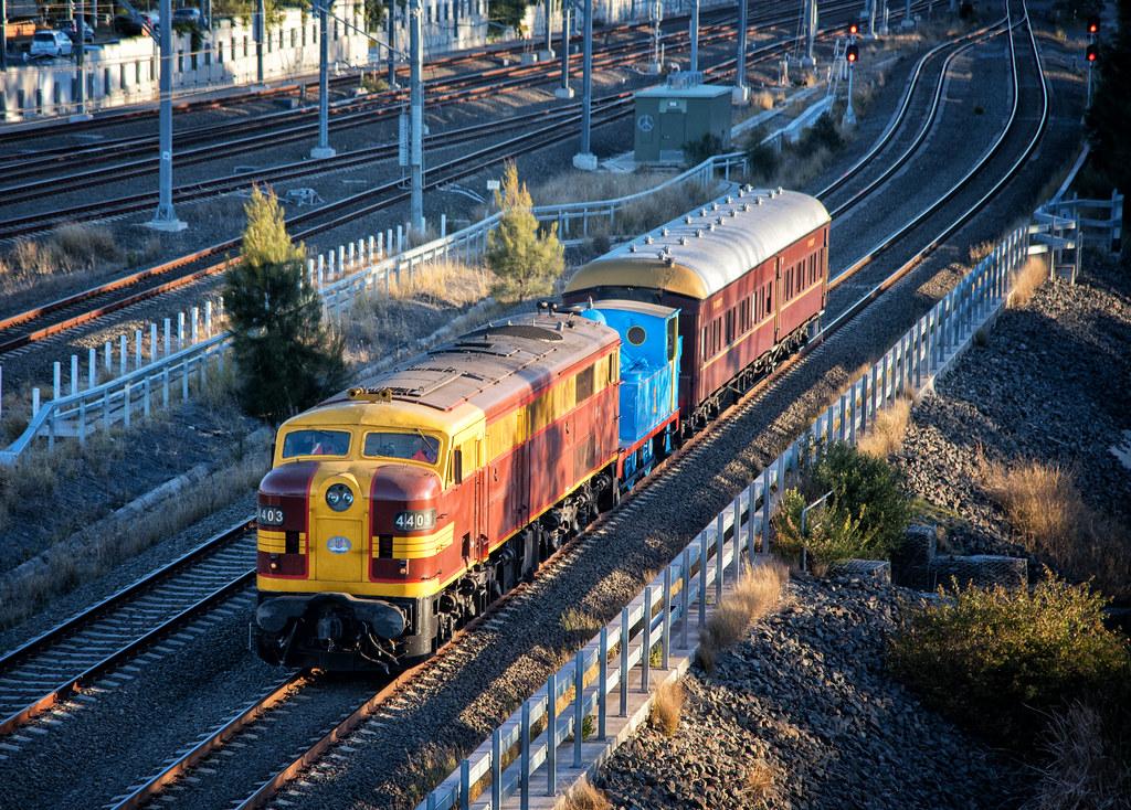 Little Blue Transfer Train by Steve Burrows