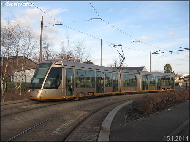 Alstom Citadis – Semtao (Société d'Économie Mixte des Transports de l'Agglomération Orléanaise) (Transdev) / TAO (Transports de l'Agglomération Orléanaise) n°56