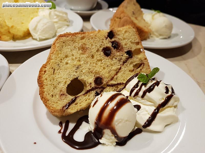 cafe moni okayama chiffon cake